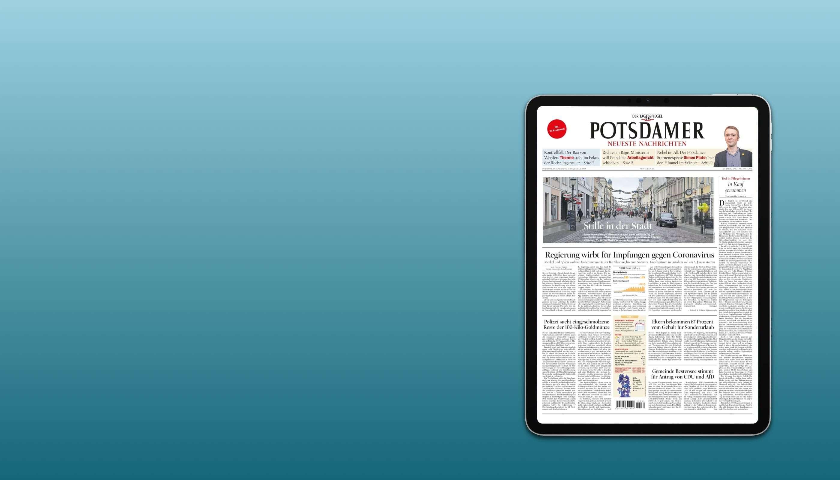 PNN lesen. iPad 2020 geschenkt.