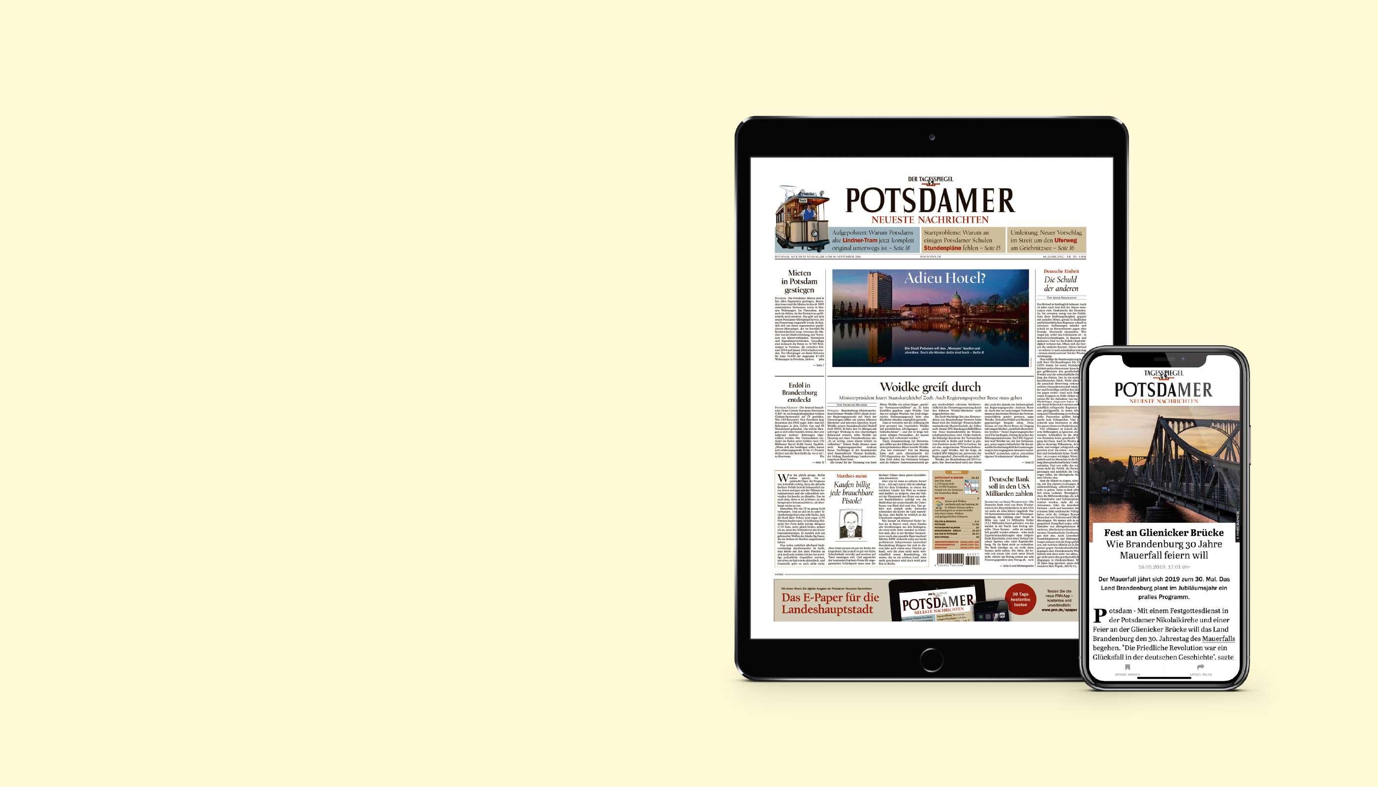 PNN lesen. iPad 2019 geschenkt.