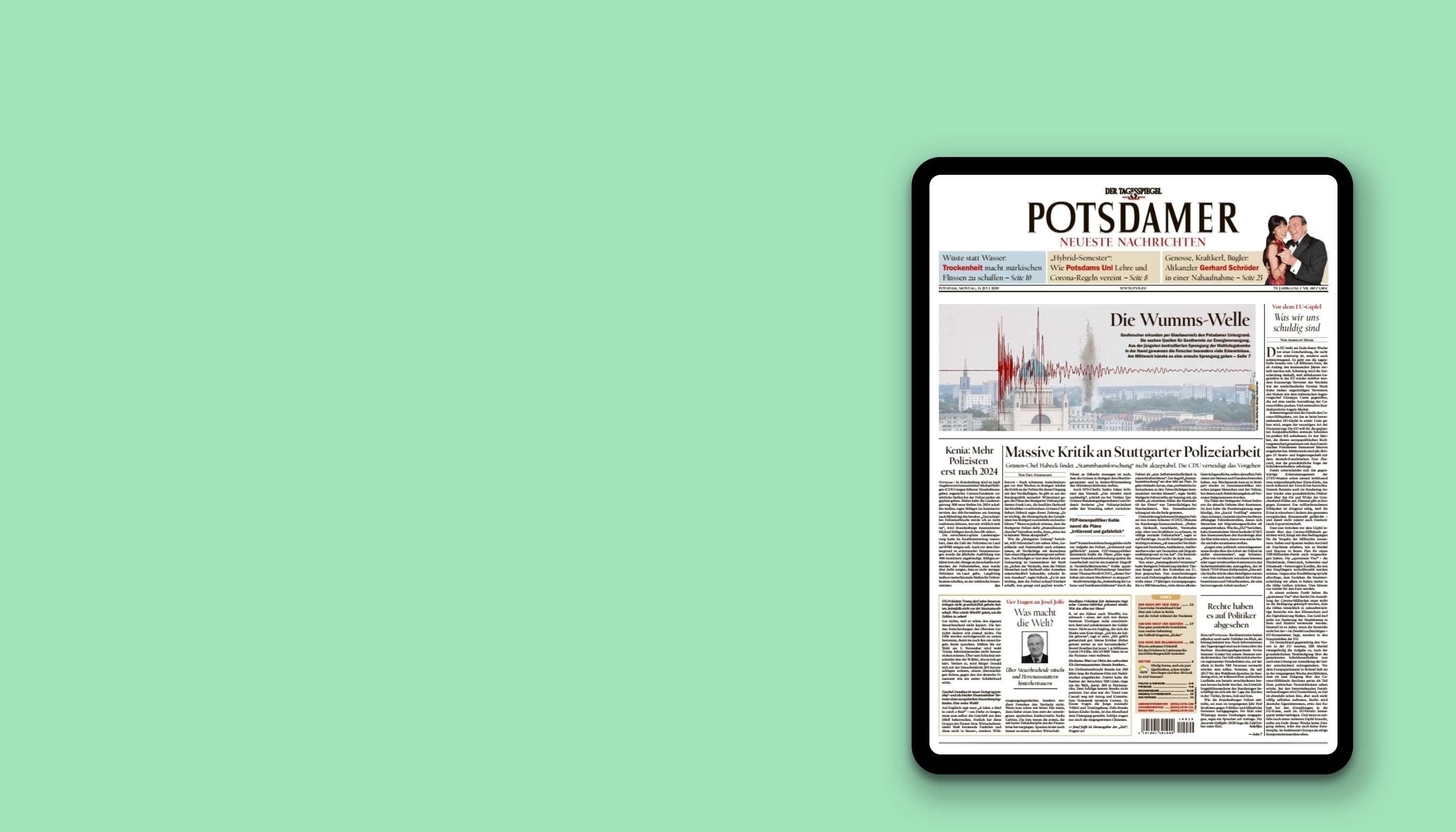PNN lesen. Das iPad 2020 geschenkt.